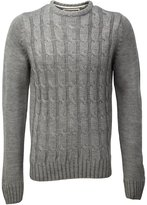 Soul Star Men's Cable Knit Crew Neck Knitted Jumper