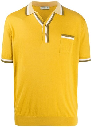 Etro Contrast Stripe Polo Shirt