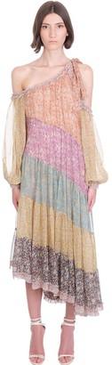 Zimmermann Carnaby Frill Dress In Multicolor Silk