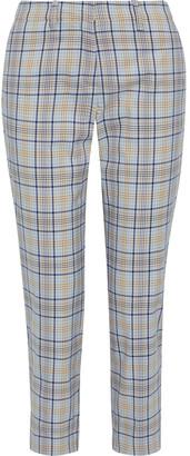 Baum und Pferdgarten Nelma Cropped Checked Cotton-blend Jacquard Tapered Pants