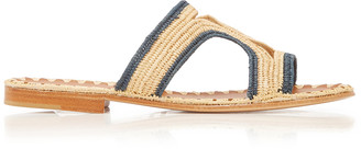 Carrie Forbes Moha Two-Tone Raffia Sandals