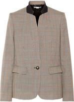 Stella McCartney Fleur Princes Of Wales Checked Wool Blazer - Beige