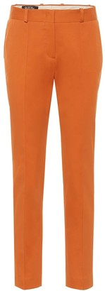 Loro Piana Derk high-rise slim cotton-blend pants
