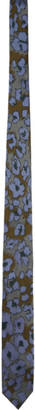 Dries Van Noten Purple Graphic Silk Tie