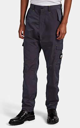 John Elliott Men's Iridescent Tech-Fabric Cargo Pants - Navy