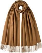 Johnstons Of Elgin Dark Camel Classic Cashmere Stole