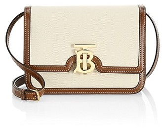 Burberry Small TB Canvas & Leather Crossbody Bag