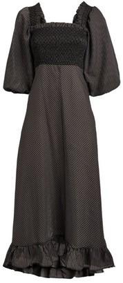 Ganni Check Seersucker Dress