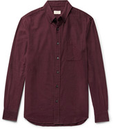 Club Monaco - Button-Down Collar Herringbone Cotton-Flannel Shirt