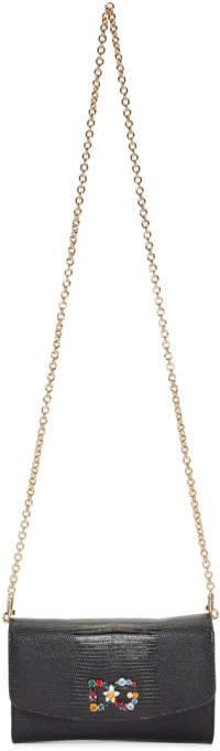 Dolce & Gabbana Black Iguana Wallet Bag