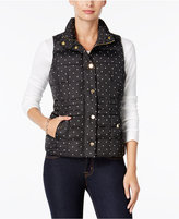 Charter Club Dot-Print Puffer Vest, Only at Macy's