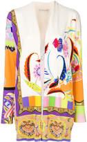 Etro floral print longline cardigan