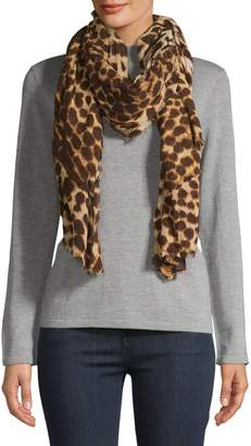 Echo Animal-Print Cotton-Blend Scarf