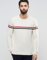 Asos Lambswool Rich Lightweight Sweater with Stripe
