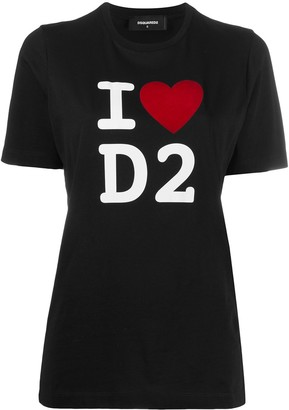 DSQUARED2 D2 logo-printed T-shirt