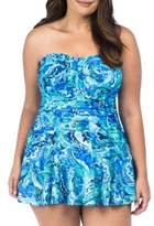 Lauren Ralph Lauren Plus Exotic Paisley Twist Swim Dress