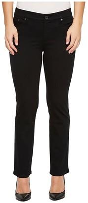 Lauren Ralph Lauren Petite Modern Straight Curvy Jeans (Black) Women's Jeans