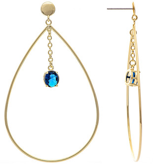 Rivka Friedman 18K Plated Crystal Drop Earrings