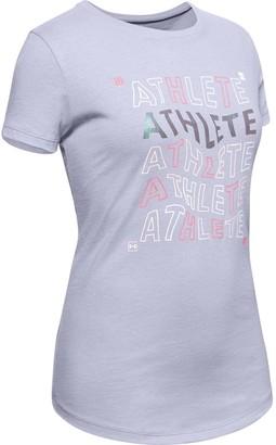 Under Armour Girls' UA Athlete Graphic T-Shirt