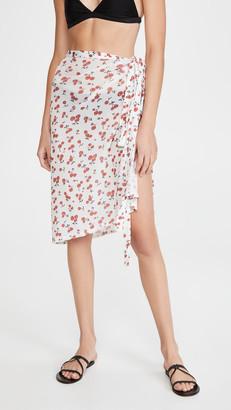 HVN Mesh Wrap Skirt