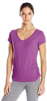 Danskin Women's Allure Back Strap Tee with Shirred Sides