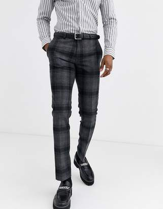 Twisted Tailor super skinny fit suit pants in wide gray check