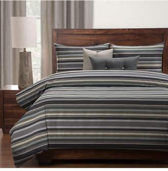 Everlast Revolution Plus Bronson Stain Resistant 6 Piece Cal King High End Duvet Set Bedding
