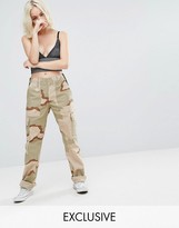 Reclaimed Vintage Revived Military Pants In Camo