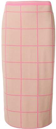 Marni Check Midi Skirt