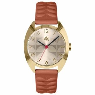 Orla Kiely Unisex Adult Analogue Classic Quartz Watch with Leather Strap OK2292