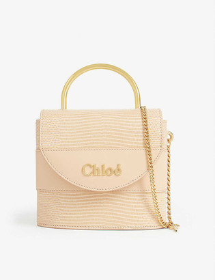 Chloé Small Aby Lock reptile-embossed leather bag