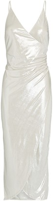Night Night By Jonathan Simkhai Lame Jersey Wrap Dress