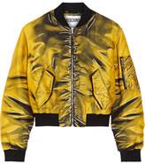 Moschino Printed Gabardine Bomber Jacket - Marigold
