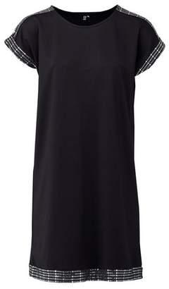 Dorothy Perkins Womens *Izabel London Black Sequin Trim Shift Dress, Black