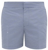 Frescobol Carioca Copacabana Printed Swim Shorts - Mens - Blue White