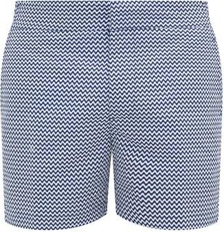 Frescobol Carioca Copacabana Printed Swim Shorts - Blue White