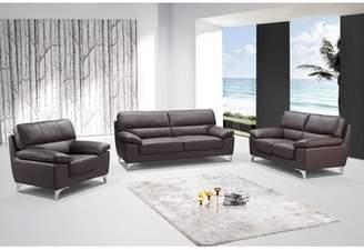 BEIGE Orren Ellis Mcnab 3-Piece Living Room Sofa Set Orren Ellis Color