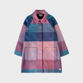 Paul Smith Girls' 2-6 Years Wool-Blend Pastel-Check 'Mary' Coat
