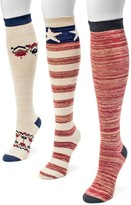 Muk Luks Americana 3 Pair Knee High Socks