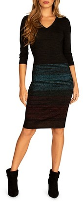 Trina Turk Masha Space-Dye Striped Sweater Dress