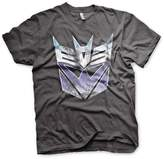 Transformers Officially Licensed Distressed Decepticon Shield T-Shirt (D.Grey)