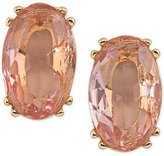 Carolee Gold-Tone Pink Stone Stud Earrings