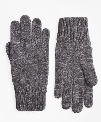 Brooks Brothers Ribbed Marled Wool Gloves