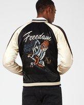 Topman Embroidered Reversible Souvenir Bomber Jacket
