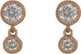 Tate Women's Diamond Double-Drop Earrings-PINK, NO COLOR