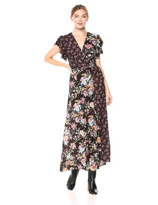 French Connection Women's Francis Drape Maxi Wrap Dress