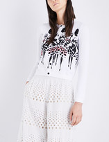 Alice + Olivia Alice & Olivia Ruthy Stace knitted cotton-blend cardigan