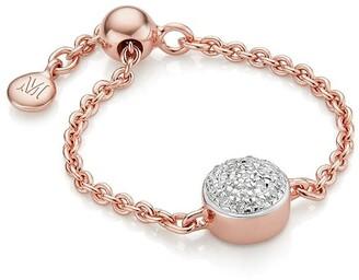 Monica Vinader Fiji Mini Button Adjustable Diamond ring