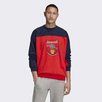 adidas Arsenal Trefoil Crewneck Sweatshirt