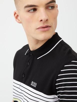 BOSS Paddy 7 StripePolo Shirt - Black/White